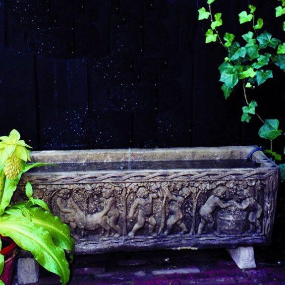 Large Classical Trough Garden Ornament