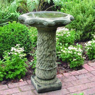 Vine Birdbath Garden Ornament