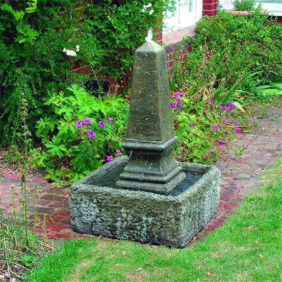 Obelisk Fountain Garden Ornament