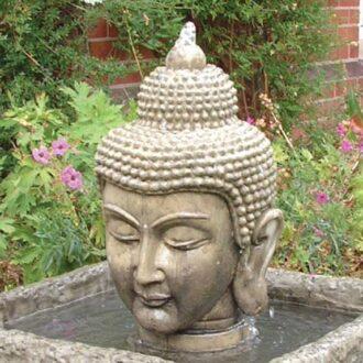 Buddha Head Fountain Garden Ornament