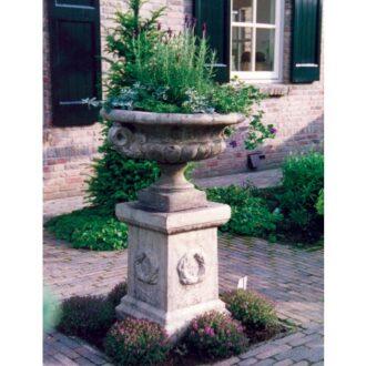 Edwardian Style Planter On Plinth Garden Ornament