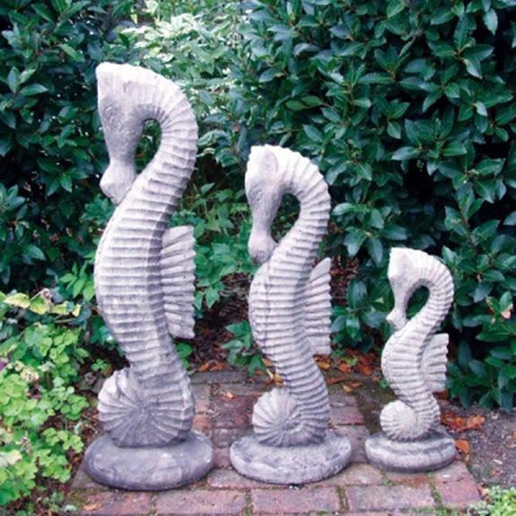 Large Seahorse Garden Ornament Amiska, Seahorse Garden Statue